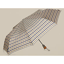 Buy Aquascutum Club Check Umbrella, Vicuna Online at johnlewis.com