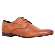 Buy KG by Kurt Geiger Travis Peforated Derby Shoes, Tan Online at johnlewis.com