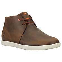 Buy Timberland Newmarket Fulk Leather Chukka Boots, Brown Online at johnlewis.com