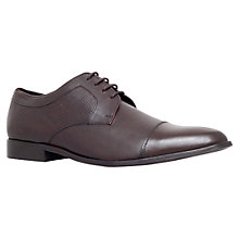 Buy KG by Kurt Geiger Toe Cap Derby Shoes, Brown Online at johnlewis.com
