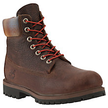 "Buy Timberland 6"" Icon Premium Leather Boots, Brown/Pendleton Online at johnlewis.com"