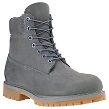 "Buy Timberland 6"" Icon Nubuck Leather Premium Boots, Grey Online at johnlewis.com"