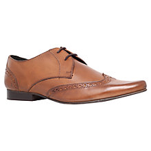 Buy KG by Kurt Geiger Reed Leather Wing Cap Derby Shoes, Tan Online at johnlewis.com