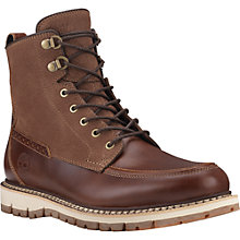 Buy Timberland Britton Hill Mock Toe Waterproof Leather Boot, Chestnut Quartz Online at johnlewis.com