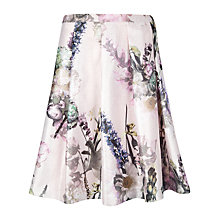 Buy Ted Baker Torchlit Floral Skirt, Pink Haze Online at johnlewis.com