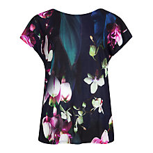 Buy Ted Baker Iya Floral Tee, Dark Blue Online at johnlewis.com