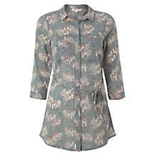 Buy White Stuff Peacock Print Tunic Top, Teal Online at johnlewis.com