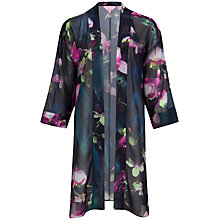 Buy Ted Baker Caylia Floral Print Kimono, Dark Blue Online at johnlewis.com