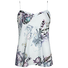 Buy Ted Baker Cynaria Printed Scallop Edge Camisole, Pale Green Online at johnlewis.com