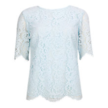 Buy Ted Baker Scallop Edge Top, Light Blue Online at johnlewis.com