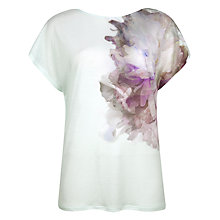 Buy Ted Baker Floral Top, Fresh Mint Online at johnlewis.com