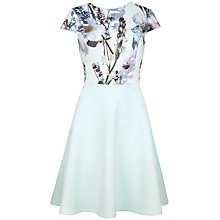 Buy Ted Baker Faythe Torchlit Floral Dress, Mint Online at johnlewis.com
