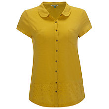 Buy White Stuff Dita Jersey Shirt, Yellow Online at johnlewis.com