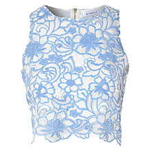 Buy True Decadence Sleeveless Crochet Top, Blue/White Online at johnlewis.com