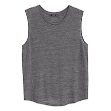 Buy Mango Sleeveless Tee, Grey Online at johnlewis.com