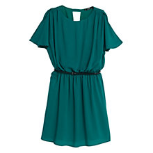 Buy Mango Textured Belt Dress, Turtle Green Online at johnlewis.com