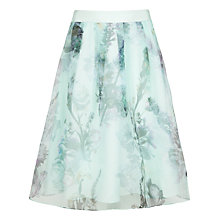 Buy Ted Baker Torchlit Floral Skirt, Pale Green Online at johnlewis.com