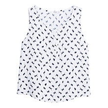 Buy Mango Flowy Print Top, Natural White Online at johnlewis.com