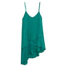 Buy Mango Satin Layered Top, Bright Green Online at johnlewis.com