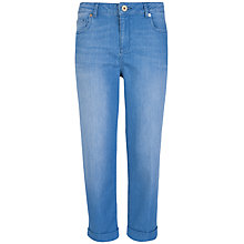 Buy Ted Baker Jaxie Tailored Cropped Turn Up Jeans, Baby Blue Online at johnlewis.com