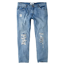 Buy Mango Slim-Fit Cropped Nancy Jeans, Open Blue Online at johnlewis.com