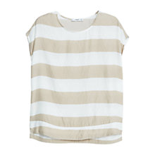 Buy Mango Flowy Striped Blouse, Light Grey Online at johnlewis.com