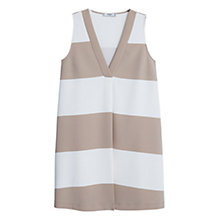 Buy Mango Fluid Stripe Dress, Light Grey Online at johnlewis.com