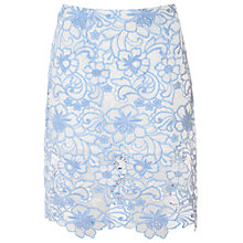 Buy True Decadence Crochet Lace Skirt, Blue/White Online at johnlewis.com