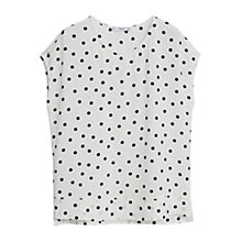 Buy Mango Polka Dot Blouse, Natural White Online at johnlewis.com
