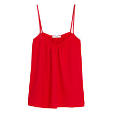 Buy Mango Spaghetti Straps Top, Scarlet Online at johnlewis.com