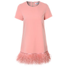 Buy True Decadence Feather Trim Dress, Salmon Pink Online at johnlewis.com