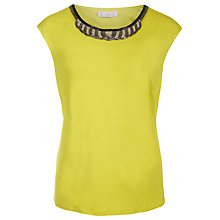 Buy Windsmoor Citrus Embellished Top, Electric Yellow Online at johnlewis.com
