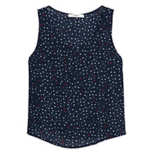 Buy Mango Flowy Printed Top, Navy Online at johnlewis.com