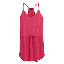 Buy Mango Drawstring Dress, Amaranth Online at johnlewis.com