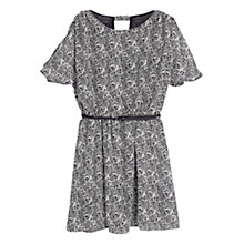 Buy Mango Butterfly Print Dress, Black Online at johnlewis.com