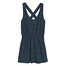 Buy Mango Printed Strap Dress, Navy Online at johnlewis.com