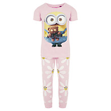 Buy Minions Daisy Short Sleeve Pyjamas, Pink Online at johnlewis.com
