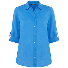 Buy Jaeger Linen Rolled Sleeve Shirt Online at johnlewis.com