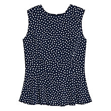 Buy Mango Polka Dot Top, Navy Online at johnlewis.com