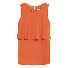 Buy Mango Ruffle Detail Top, Orange Online at johnlewis.com