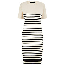 Buy Jaeger Stripe Dress, Multi Ivory Online at johnlewis.com