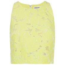 Buy Whistles Leanora Burn Out Top, Yellow Online at johnlewis.com