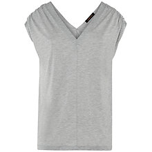 Buy Jaeger Ruched Marl Top Online at johnlewis.com