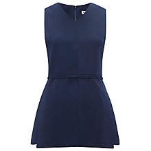 Buy Whistles Gwen Belted Top, Navy Online at johnlewis.com