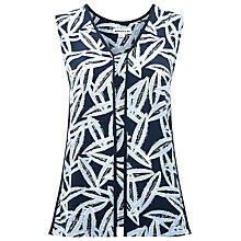 Buy Whistles Coco Bean Piped Seam Top, Blue Multi Online at johnlewis.com
