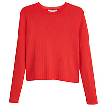 Buy Mango Fine Knit Ribbed Jumper Online at johnlewis.com
