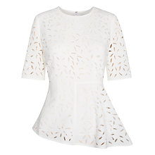 Buy Whistles Cut Out Floral Top, Ivory Online at johnlewis.com