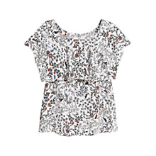 Buy Mango Floral Print Top, Light Pastel Pink Online at johnlewis.com