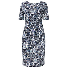 Buy Phase Eight Cara Check Dress, Blue/White Online at johnlewis.com