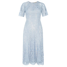 Buy Whistles Lily Lace Shift Dress, Pale Blue Online at johnlewis.com